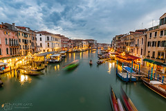 Venice from Rialto bridge (figatz) Tags: venice venezia italy europe rialto bridge long exposure tokina nikon trail lights travel italia d5300 photography beautiful tokina1120mm blue hour bella wonderful amazing unique world tourism walk around colorful