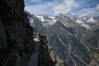 the plank @high route Grächen-Zermatt