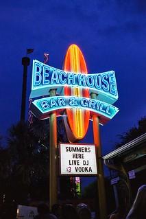The Beach House Bar & Grill at Myrtle Beach.  Shot on Pentax KX w/ SMC Takumar 35mm f/2.0 & Lomography 400 film.
