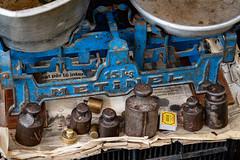 Heavy Metal (Leaning Ladder) Tags: elbasan albania scale metal blue canon 7dmkii leaningladder