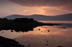 Loch Scridain, Isle of Mull, Scotland 4 (chris-parker) Tags: otland mull iona beach sunset traigh gheal snd beaach sky clouds red ensign loch scridain duart castle ferry