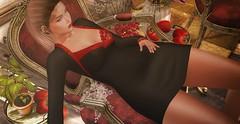 ♚ 602 ♚ (Luxury Dolls) Tags: black red pepper lode deaddollz dress sexy nutmeg armchair chair new event shinyshabby maitreya catwa bento shot shape show uber ubersl decor picture bouquet blog blogger feed fashion cat animals woman girl sintiklia