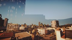 Sunrise LA | GTA V (Stellasin) Tags: angeles gaming game dark darkness car cars beauty beautiful buildings blur city downtown mods engine weather reflection fog graphics gta gtav hot highway photography sky los mountains mustang road trees grass screenshot sun sunrise sunset street v