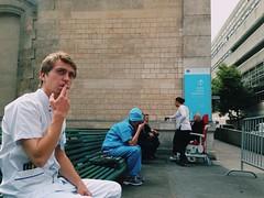 The smoking doctors (LUMEN SCRIPT) Tags: france paris smoking doctors hospital colours streetphotography