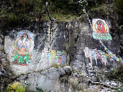 Buddha painting (MelindaChan ^..^) Tags: sichuan china 四川 川西高原 stone rock painting buddha buddhism chanmelmel mel melinda melindachan