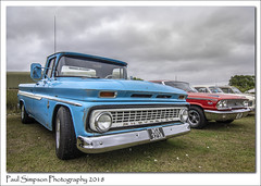 Chevrolet GMC Pick-Up truck (Paul Simpson Photography) Tags: chevvy chevrolet truck car classiccar transport lincolnshire paulsimpsonphotography carshow august 2018 sonya77 overcastweather blue american old oldcars imagesof imageof photoof photosof england