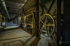 The Tramco Turns No More (billmclaugh) Tags: lakerailelevator internationalmillingco conagra silocity markmaio buffalo newyork grainelevator silos grain flour malt factory industrial industry abandoned urbanexploration urbex explore rust canon 5dmarkiii tse24mmf35l tiltshift highdynamicrange hdr adobe lightroom photoshop on1 perfecteffects
