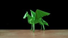 Pegasus (guangxu233) Tags: origami origamiart paper art paperart paperfolding kamiyasatoshi 折纸 折り紙 折り紙作品 pegasus