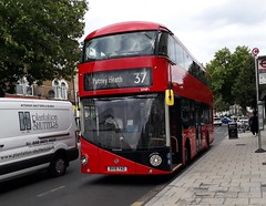 Go-Ahead London Central VHP1 BV18YAD | 37 to Putney Heath (Unorm001) Tags: bv18 bv18yad yad 37 vhp1 vhp 1 red london double deck decks decker deckers buses bus routes route diesel hybrid electric dieselelectric battery batteryelectric hybridelectric