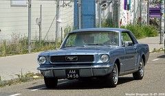 Ford Mustang 1966 (XBXG) Tags: am3458 ford mustang 1966 fordmustang blue bleu ms van riesmdijkweg amsterdam noord amsterdamnoord ndsm nederland holland netherlands paysbas vintage old classic american car auto automobile voiture ancienne américaine us usa vehicle outdoor