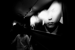 20180800 One day (soyokazeojisan) Tags: japan osaka bw city people blackandwhite monochrome digital olympus em1markⅱ 714mm light 2018