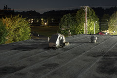 Roof (Curtis Gregory Perry) Tags: olympia washington roof hotel night long exposure nikon d810 ventilation duct