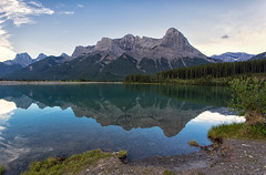 Rundle Forebay (JD~PHOTOGRAPHY) Tags: mountain mountains mountainlandscape rundlemountain rundleforebay landscape reflection water lake nature naturallandscape naturesbeauty canon canon6d