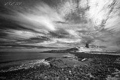 "Highlight (""A.S.A."") Tags: dunstanburghcastle northumberland northeast northeastcoast northsea sky cloud infrared830nm wideangle britain coast seascape beach rocks castle sonya7rinfrared830nm sonyzeissvariotessarfe1635mmf4 blackwhite mono monochrome greyscale niksoftware silverefex asa2018"
