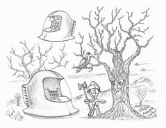 Voodoo Lumber Jack (rod1691) Tags: myart art sketchbook bw scfi grey concept custom car retro space hotrod drawing pencil h2 hb original story fantasy funny tale automotive illustration greyscale moonpies sketch sexy voodoo