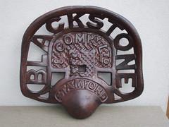 Blackstone & Company Stamford Lincs Cast Iron Tractor Seat (beetle2001cybergreen) Tags: blackstone company stamford lincs cast iron tractor seat