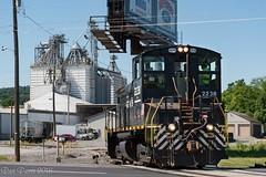 NSHR 2238 @ Winfield, PA (Dan A. Davis) Tags: northshore nshr nshr1 ucir unioncountyindustrialrailroad winfield lewisburg pa pennsylvania freighttrain railroad locomotive train sw1500