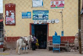 Horse rider stop, Ayacucho, Peru