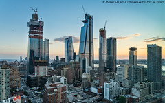 West Side Sunset (20180715-DSC02508) (Michael.Lee.Pics.NYC) Tags: newyork hudsonyards manhattanwest hotelview doubletreetimessquarewest aerial sunset construction architecture cityscape skyline hudsonriver river jerseycity newjersey ninthavenue lincolntunnel sony a7rm2 fe24105mmf4g