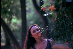 garden flowers (narrator of the tales) Tags: velvia50 35mm flowers girl