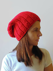 Red Wool Beanie (brandacrafts) Tags: beanie knits hat red chunky branda