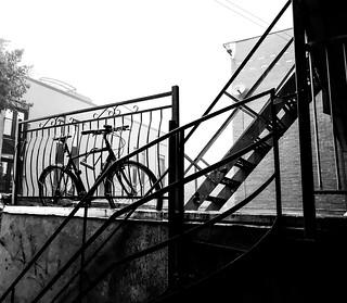 Urban bike in Thunderstorm
