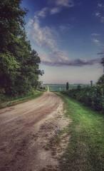eagle creek road... (BillsExplorations) Tags: dof eaglecreek brookville cemetery illinois countryroad old vintage dustyroad clouds