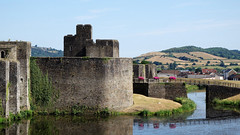 Caerphilly Castle (delpentax) Tags: wales uk castle gimp rx100 explore