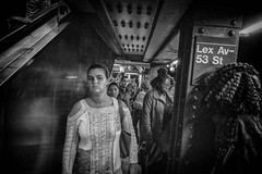 Parallel Lines And Eyes. (rockerlan) Tags: sony rx100 parallel lines eyes lexington 53rd street photography tight spaces train candid urban lifestyles new york nyc
