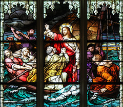 Courage! It is I! (Lawrence OP) Tags: peter saints apostles storm boat jesus christ stainedglass covington cathedral window