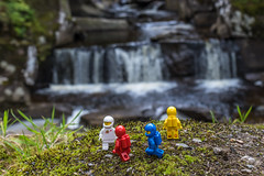 Exploration (#61) - Waterfall (Ballou34) Tags: 2017 7dmark2 7dmarkii 7d2 7dii afol ballou34 canon canon7dmarkii canon7dii eos eos7dmarkii eos7d2 eos7dii flickr lego legographer legography minifigures photography stuckinplastic toy toyphotography toys scotland royaumeuni gb stuck in plastic space exploration classic white blue red yellow water waterfall grass green