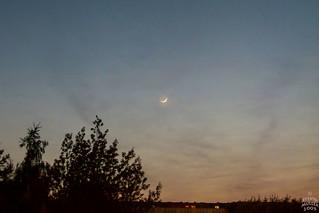 Crescent Moon meets Mercury / @ 13 mm / 2009-04-26