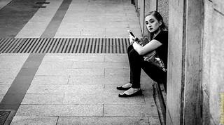 Sentada. Madrid, agosto 2018.