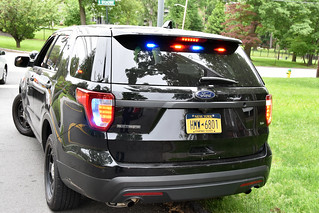 Picture Of City Of White Plains 2017 Ford Explorer Police Interceptor Utility Assigned To The Traffic Unit. Photo Taken Monday May 28, 2018