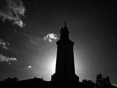 frozen in time, sunrise (Neko! Neko! Neko!) Tags: blackandwhite blackwhite bw mono monochrome monument past remains reminder sky clouds light shadow