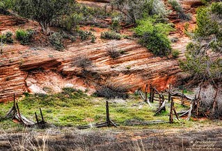 An old Cattle Corral along U.S. Route 89 near Kanab Utah