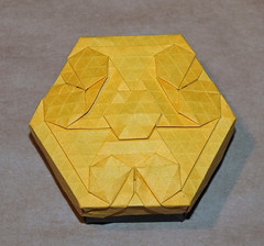 Jungle village tessellation box (mganans) Tags: origami tessellation box