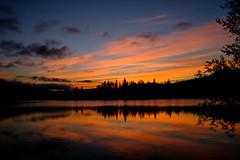 (patrickgkelly) Tags: sunrise reflections lake water sky landscape morning dawn grandecache alberta canada takumar 28mm