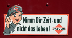 Traffic discipline plate (Schwanzus_Longus) Tags: german germany old classic vintage sign truck trailer traffic discipline plate eystrup