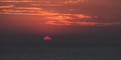 The Final Moment at Mediterranean Sea (Journey CPL) Tags: sun sunset red sunsetting mediterranean ocean sea water light cloud island smooth