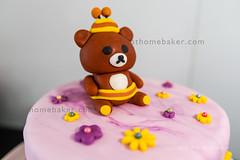 Birthday Cake (Rilakkuma Honey close up) (Anne and Ray) Tags: dessert cake
