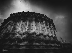 Step in and fly. (Robins Mathew Z) Tags: temple sringeri people peopleandplaces heritage india indiatravel travelphotography travelindia karnataka monsoon monochrome blackandwhite