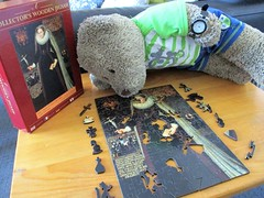 My mum loves me - a LOT! (pefkosmad) Tags: wentworth wood wooden jigsaw puzzle hobby leisure pastime whimsies figurals maryqueenofscots art painting fineart portrait queen royalcollection tedricstudmuffin teddy ted bear animal toy cuddly cute fluffy plush stuffed soft complete secondhand used