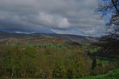 Near Berwyn 220418 - DSC_0376 (Leslie Platt) Tags: exposureadjusted straightened rainbow denbighshire riverdee llantysilio fromthea5