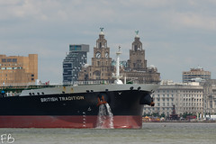 British Tradition (frisiabonn) Tags: british tradition crude oil tanker bp petroleum large vehicle ship water wirral liverpool england uk britain marine vessel river mersey merseyside sea shore waterfront maritime boat outdoor birkenhead