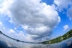 Summer panorama (Antti Tassberg) Tags: kesä 15mm landscape pitkäjärvi pilvi laaksolahti espoo järvi fisheye cloud lake prime uusimaa finland fi