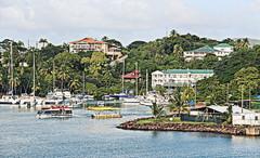 St. Lucia (yorkiemimi) Tags: carribbean karibik stlucia harbor landscape island sea houses meer insel schiffe boats