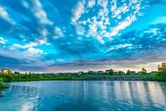 HDR Sunrise Pond 1 (sassiitalytours) Tags: nikon nikond810 hdr sunrise colorado coloradosunrise peyton pond