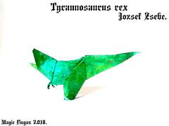 Tyrannosaurus rex - Jozsef Zsebe. (Magic Fingaz) Tags: dinosaur origamidinosaur origami barthdunkan 恐龙 공룡 恐竜 динозавр ไดโนเสาร์