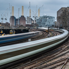 The Need For Speed, London (SNeequaye) Tags: london england uk unitedkingdom nikon nikond750 tamron tamron2470mm 2470mm tamron70200mm 70200mm sigma sigma35mm nikon1635mm rail still slowexposure slowshutter eastlondon southlondon northlondon westlondon leendgraduatedfilter leefilter leebigstopper neutraldensityfilter view thecity skyline theview architecture building city sky battersea traintrails trains stpauls southeasternrailway southernrailway batterseapowerstation